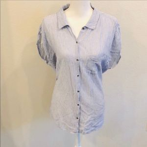 ⭐️3 FOR $50 Ruff Hewn Blue & White Stripe Shirt